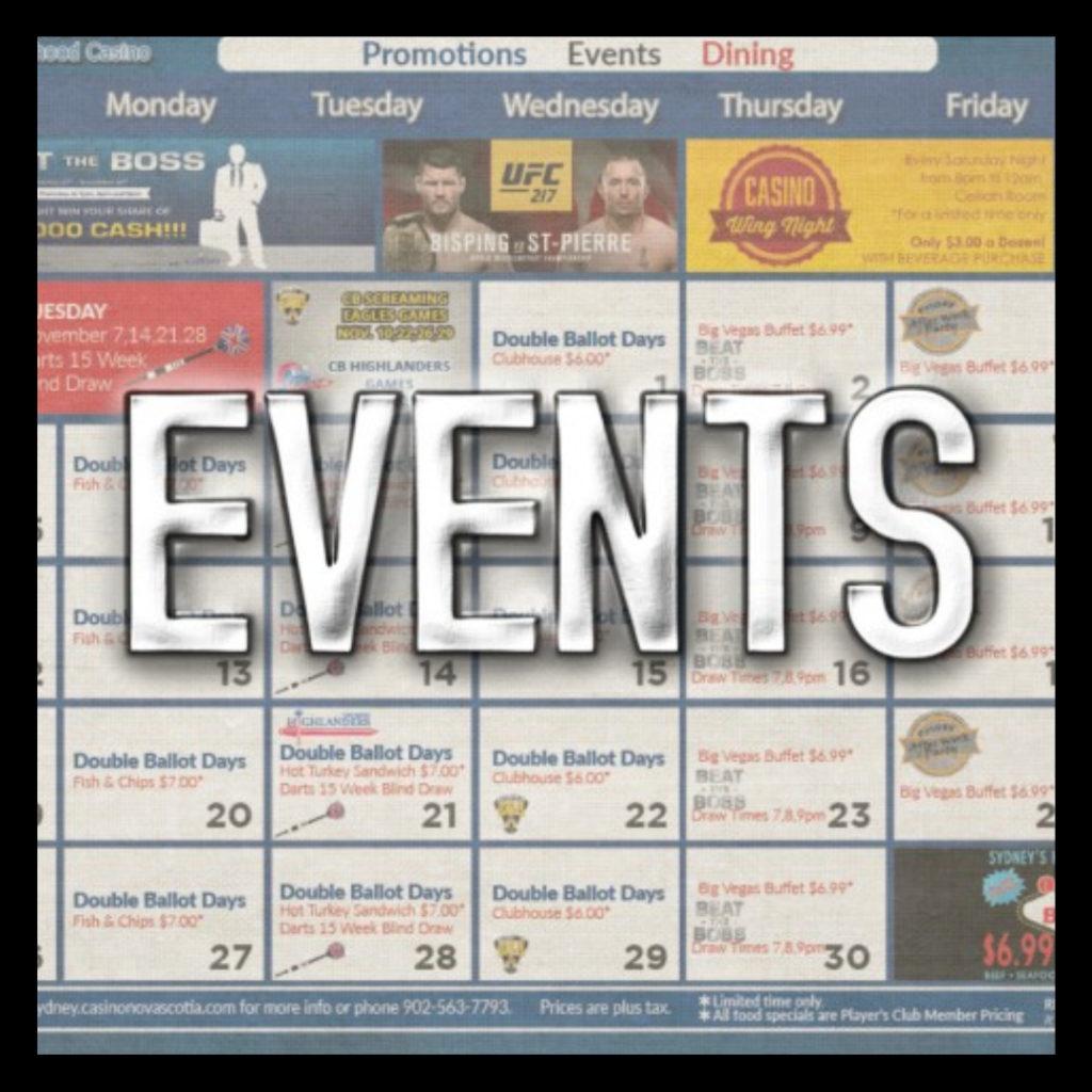 Casino Nova Scotia Sydney Events